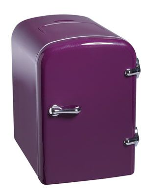 From the Seventeen College Style Hub- A mini fridge is another must have! This plum color is so cute! #17college