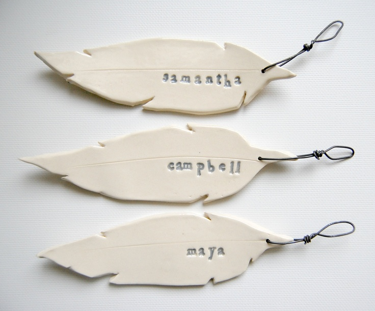 Feather Ornament by Alluvial ceramics