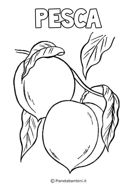 Disegni Di Frutta Da Stampare E Colorare Pianetabambini It Disegni Di Frutta Disegni Da Colorare Estate Disegni
