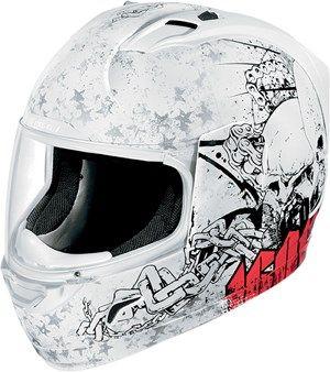 Icon Alliance Torrent Full Face Motorcycle Helmet - White