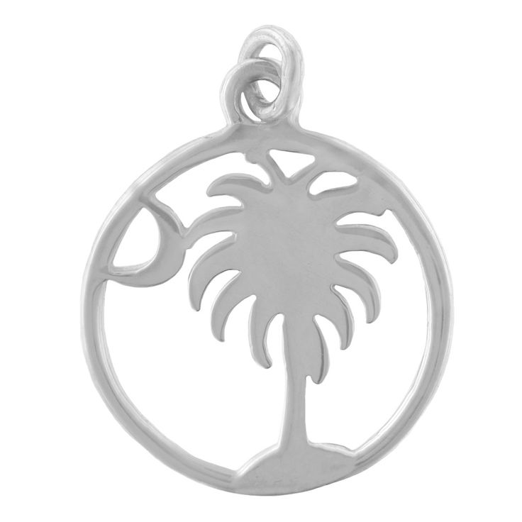 Southern Gates Sterling Silver Palmetto Moon Pendant