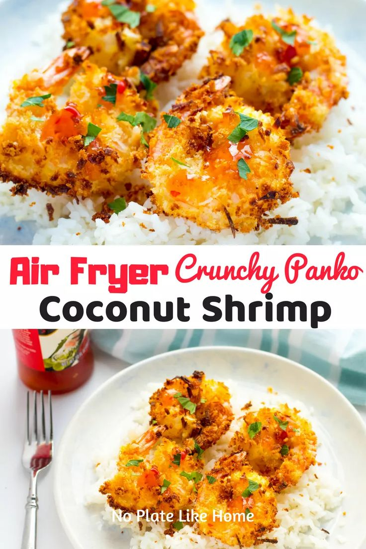 Air Fryer Panko Coconut Shrimp with Sweet Chili Sauce