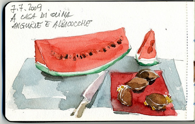 Watermelon (still live) and apricots (once upon a time) by Giorgio Bordin, via Flickr
