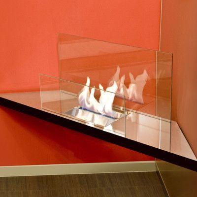 Radius Design Corner Flame Ethanol Fireplace Finish: Stainless Steel / Black Body 1*548A,    #RadiusDesign,    #1*548A,    #ElectricandGelFuelFireplaces