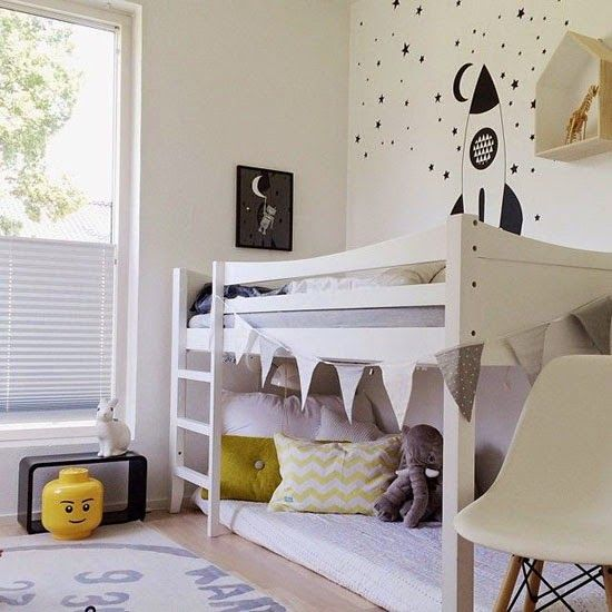 IKEA KURA bed...can be a floor bed, a loft bed, bunk beds, or a canopy bed. So cool!