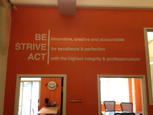 Wall Graphics Company Culture Statement