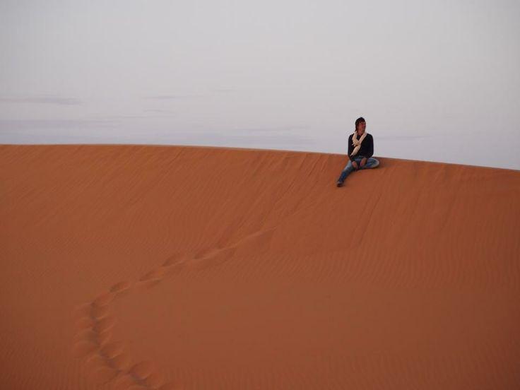 Breath. Sahara Desert. Erg Chigaga.
