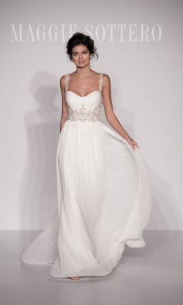 Grecian wedding dress maggie sottero