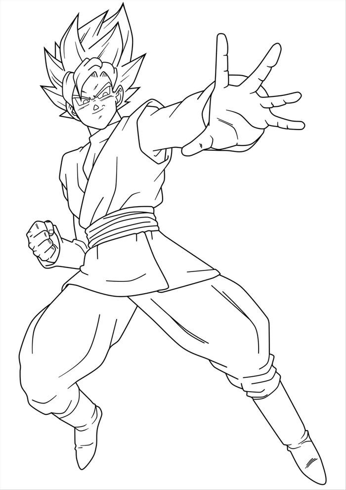 Dragon Ball Z Goku Coloring Pages In 2021 Dragon Ball Super Artwork Dragon Ball Artwork Dragon Ball Art