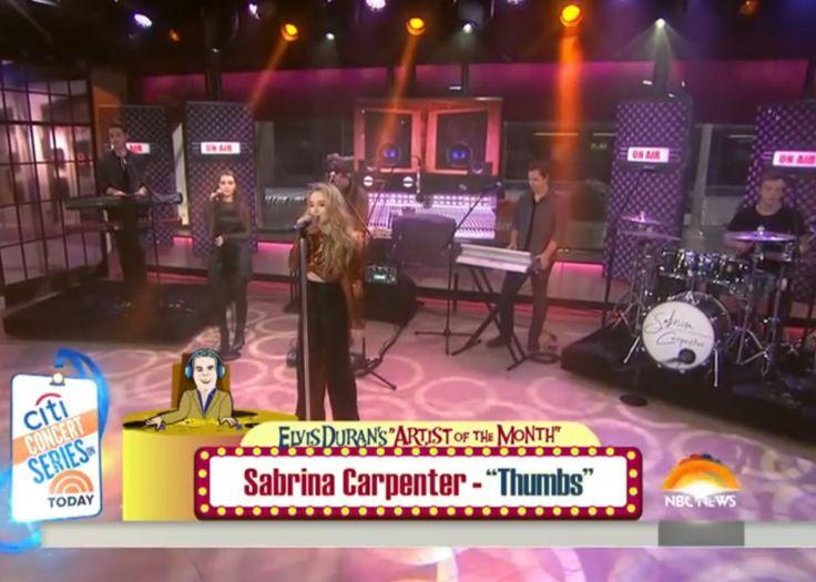 2016 Sabrina Carpenter performs Live on NBC Today Show, NYC (L-R: Nolan, Sarah, Sabrina, Caleb, Austin, Tobias)