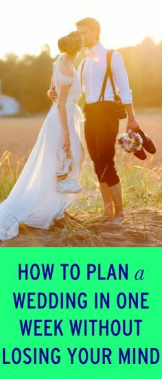 How to plan a wedding in one week
