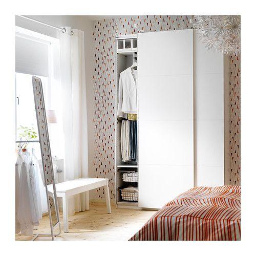 PAX Wardrobe with interior organizers, white, Mehamn white white 59x17 1/8x93 1/8