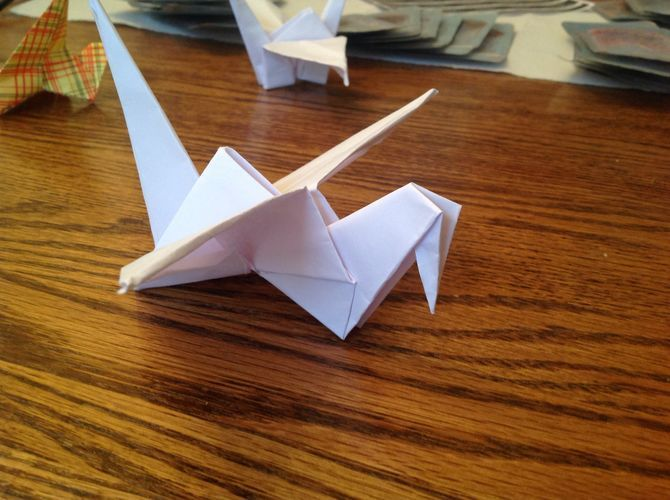 origami flapping crane instructions