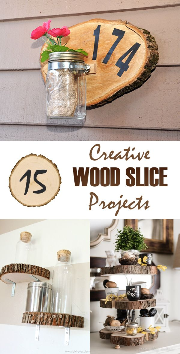 15 Creative Wood Slice Projects For Your Home
