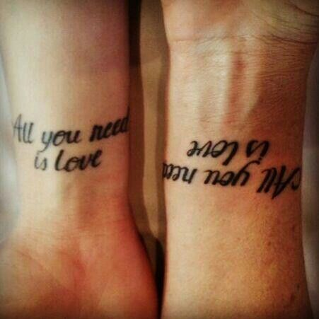 ♥All you need is love♥/Tattoo