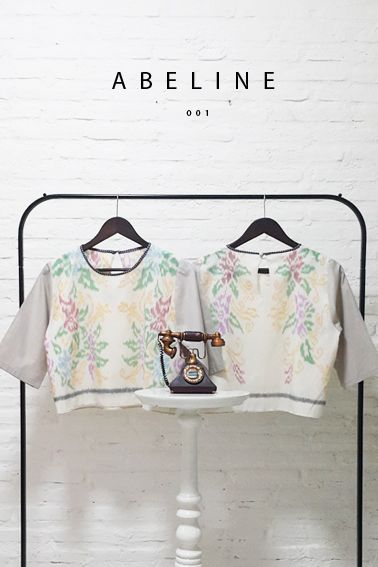 Abeline 001 IDR 320.000 Classic Flower-inspired Tenun Basic Long Sleeve Blouse  Length of Blouse : 50 cm  Material used : Tenun, Cotton / Premium Grey Cotton.  Free Size (Bust up to 100 cm)