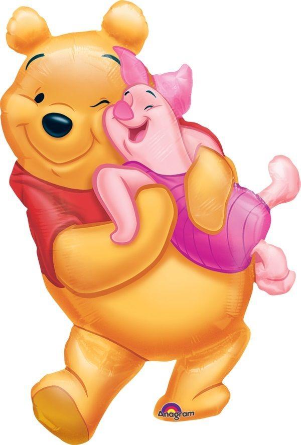 Balão Metalizado Pooh hug Piglet ursinho poof abraçando leitao