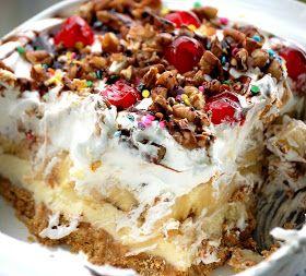 South Louisiana Cuisine: Banana Split Pie