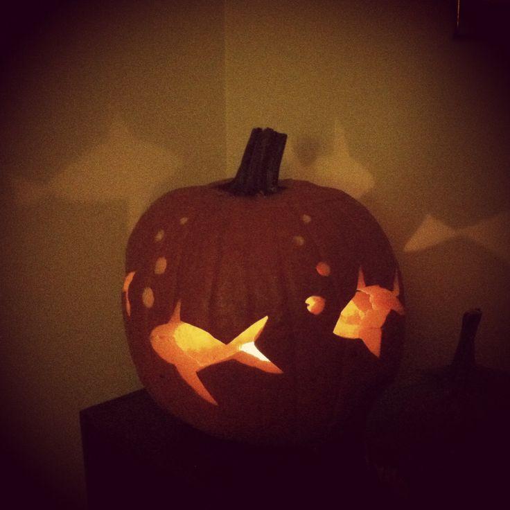 Fish swimming pumpkin carving ideas pinterest