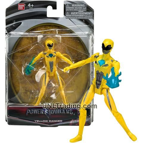 Bandai Year 2016 Saban's Power Rangers Movie Series 5 Inch Tall Action Figure - Action Hero YELLOW RANGER with Blue Flame