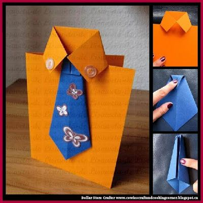 Dollar Store Crafter: DIY Bow Tie And Shirt Greeting Card