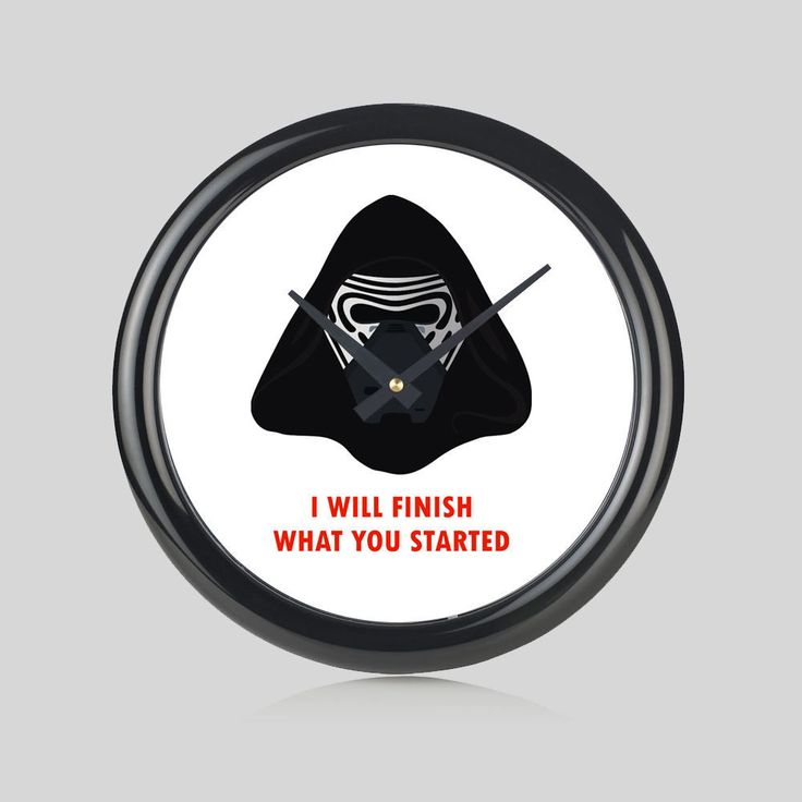 Star Wars The Force Awakens Kylo Ren Round Wall Clock Bedroom Kitchen Home New