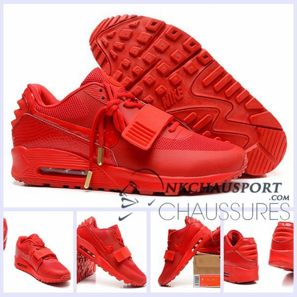 Nike Air Max 90 2016 | Meilleur Chaussures Running Homme Rouge-2