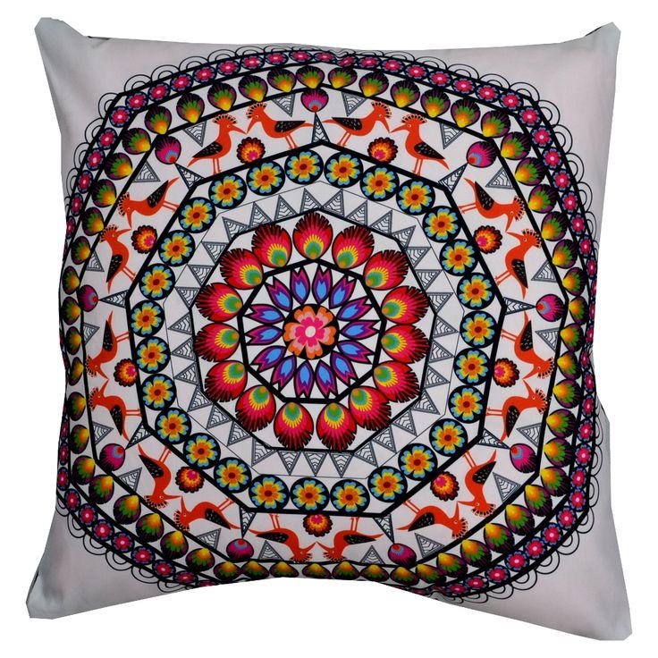 Designerska poduszka dekoracyjna Folk № gd410