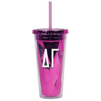Delta Gamma Sorority Metallic Tumbler - Brothers and Sisters' Greek Store
