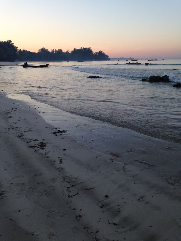 Ngapali Beach, Myanmar, at sunrise
