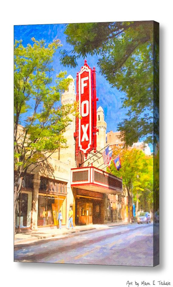 Memories of the fox theatre art by mark e tisdale for Painting places in atlanta