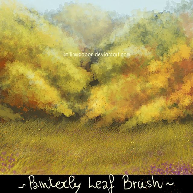oak leaf painterly background tree brush free download for photoshop