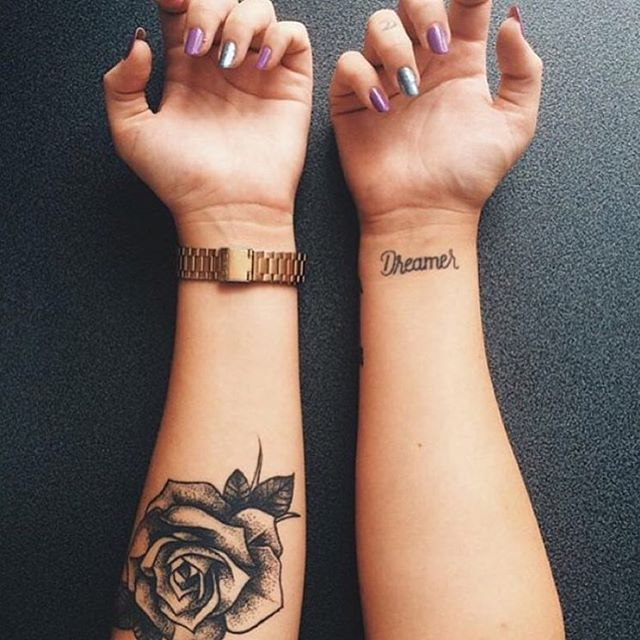 Rose tat on: @gaiaperico_!