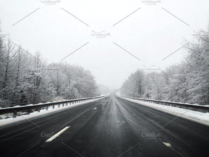 winter drive by jenn on @creativemarket