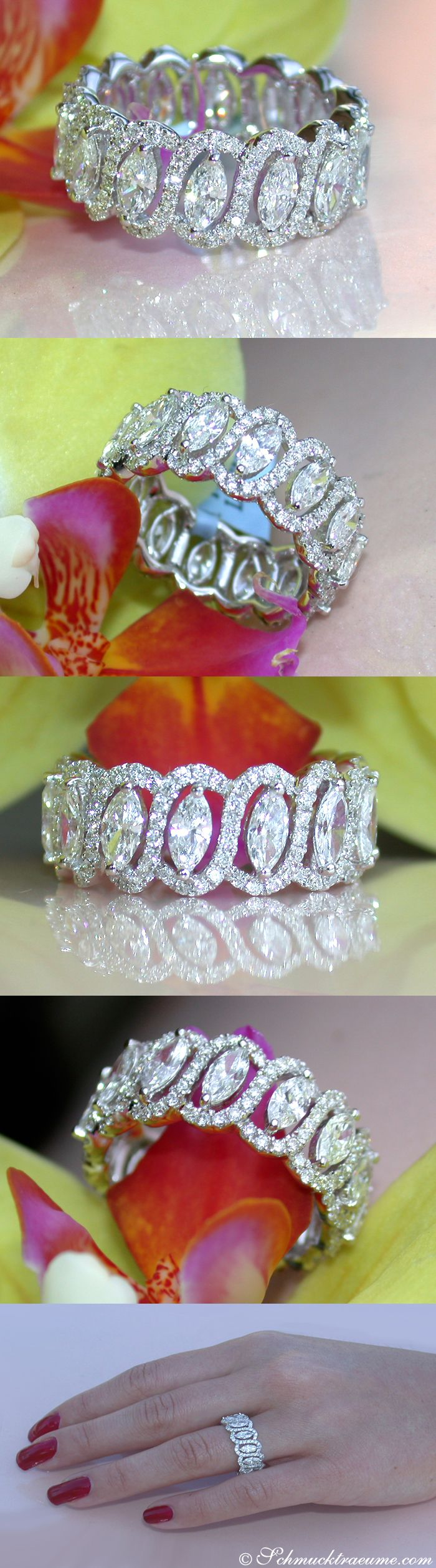 Beautiful Diamond Eternity Ring, 3.30 ct. G-SI/VS WG18K - schmucktraeume.com Like: https://www.facebook.com/pages/Noble-Juwelen/150871984924926