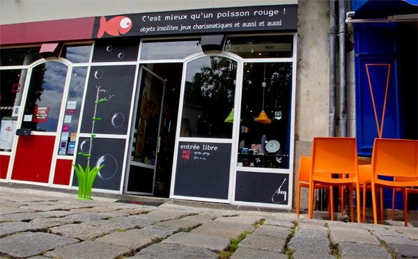 shopping décalé : C'EST MIEUX QU'UN POISSON ROUGE // 3, rue Prémion 44000 Nantes