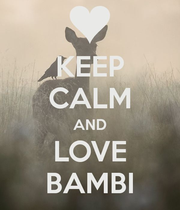 KEEP CALM AND LOVE BAMBI - by JMK