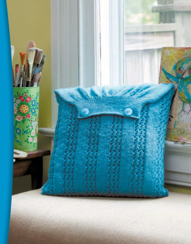 Knitting Pattern Envelope Cushion : The Envelope, Please! 10 Pillows to Knit Blue envelopes, Knit patterns and ...