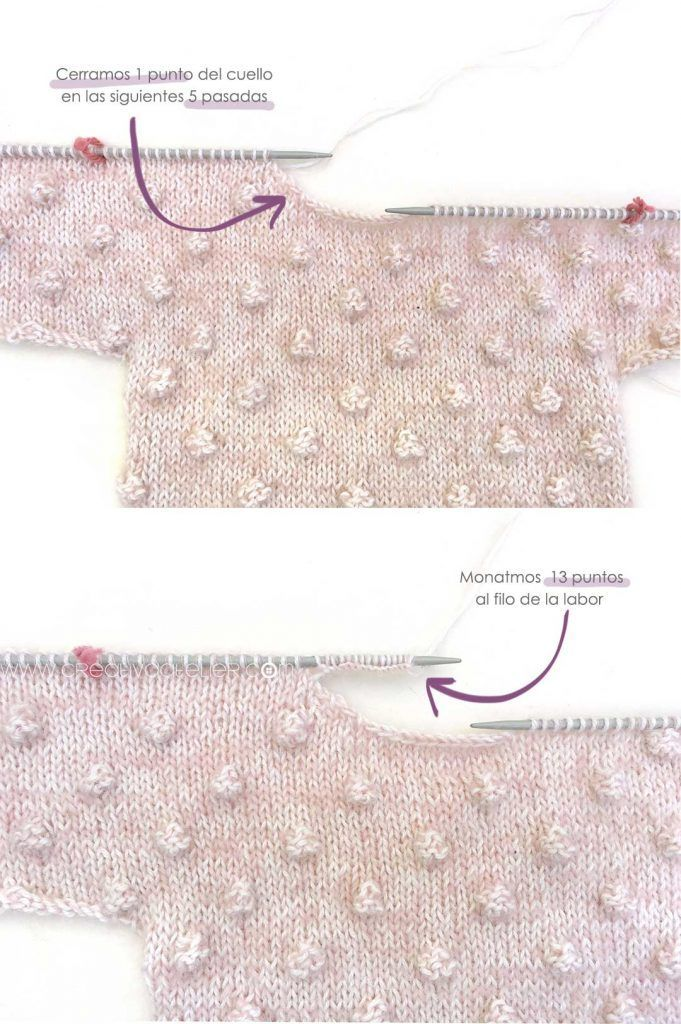 Jersey de Punto POPCORN para Bebé - [ Tutorial y patrón ] | Recién ...