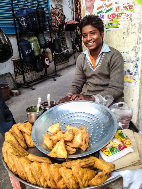 Nothing screams INDIA like some freshly fried samosas!
