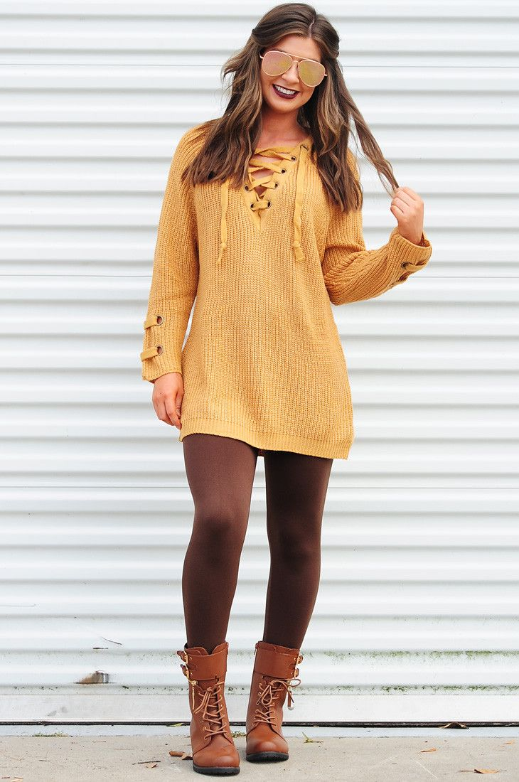 PREORDER: The Perfect Lace Up Sweater: Honey #shophopes #preorder