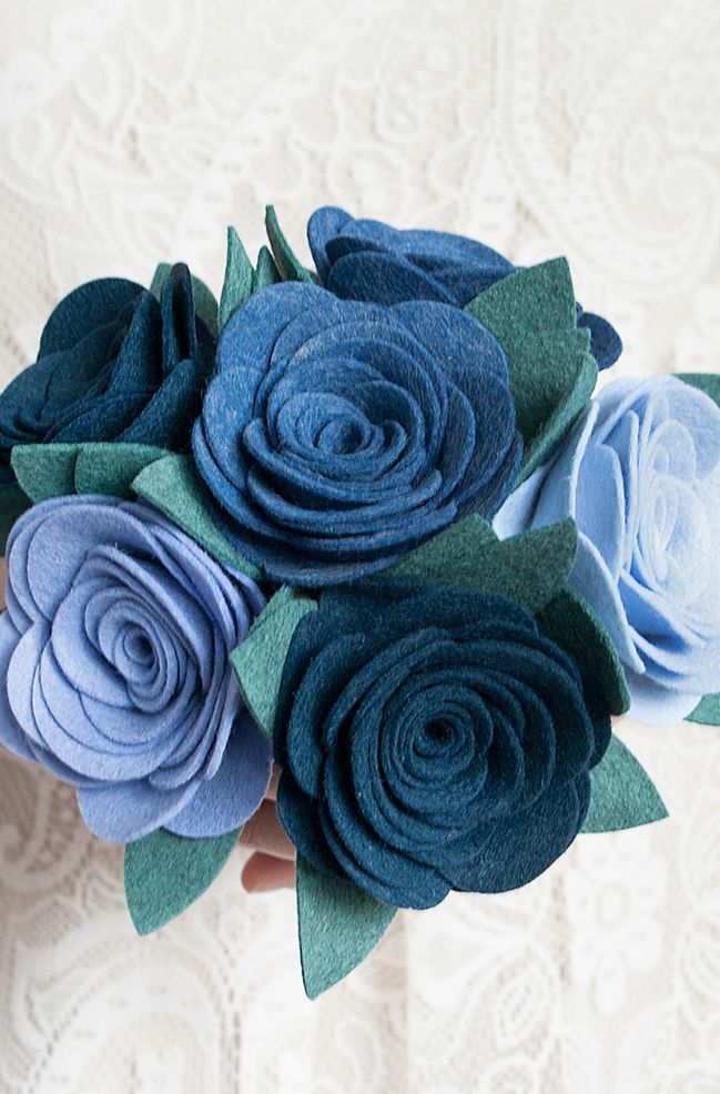 Blue Night Felt Bouquet
