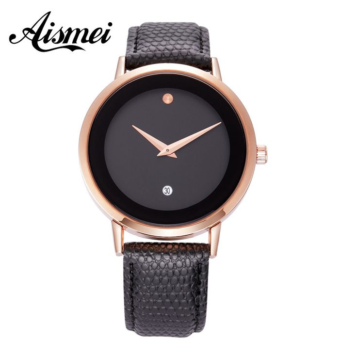 2016 New Brand museum watch lovers Watches Women Men Dress Watches Genuine Leather Dress Wristwatches Fashion dot watch