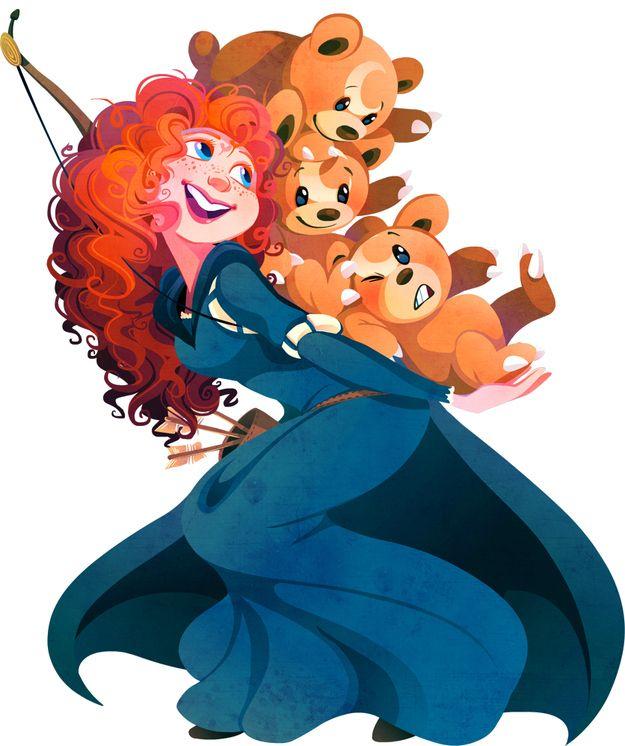 Merida (Brave) & Teddiursas.
