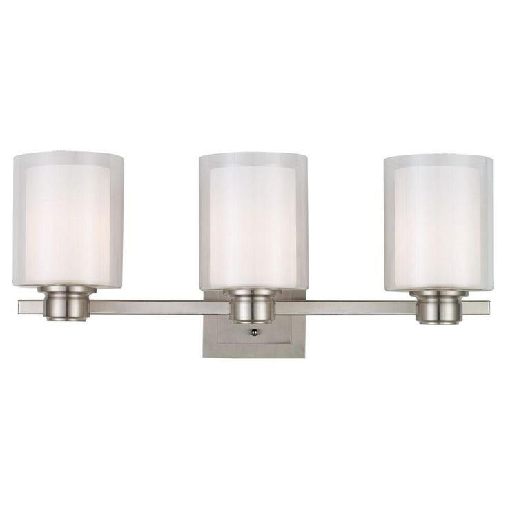 Bathroom Vanity 3 Light Fixture Brushed Nickel Bell Wall Lighting Allen Roth: Polished Chrome, Allen Roth And Contemporary Chandelier