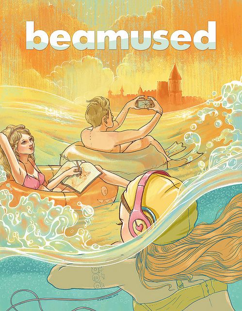 Natalie Ratkovski:  Cover-Illustration for Beamused #4 | Flickr - Fotosharing!