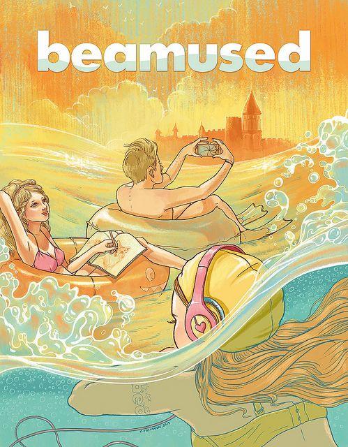 Natalie Ratkovski:  Cover-Illustration for Beamused #4 | Flickr - Fotosharing!