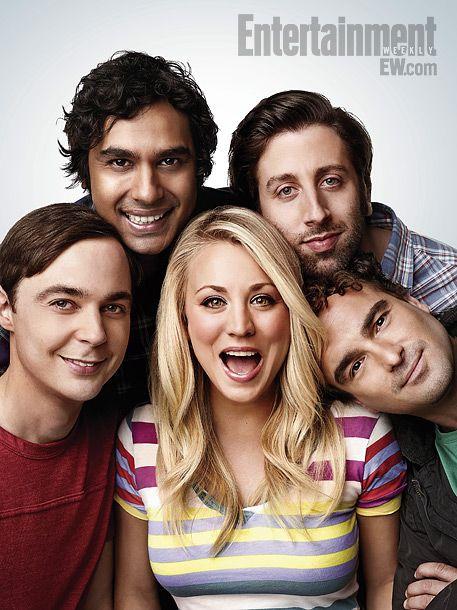 The Big Bang Theory's Jim Parsons, Kunal Nayyar, Kaley Cuoco, Simon Helberg, and Johnny Galecki