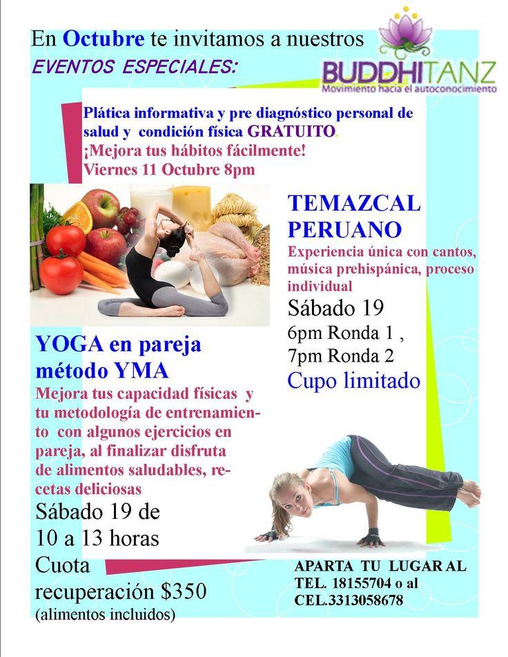 En octubre te invitamos a crear hábitos saludables para toda la vida a través del acondicionamiento físico, dieta saludable y masajes... paquetes desde $24 diariosinformes tel.18155704 o al cel.3313058678