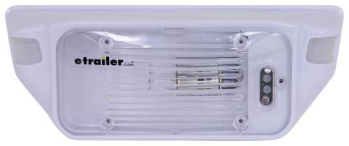 Lowest Prices for the best rv lighting from Star Lights. Starlights Motion Activated Porch Light with Clear Lens - 12V - White part number 277-000158 can be ordered online at etrailer.com or call 800-298-8924 for expert service.